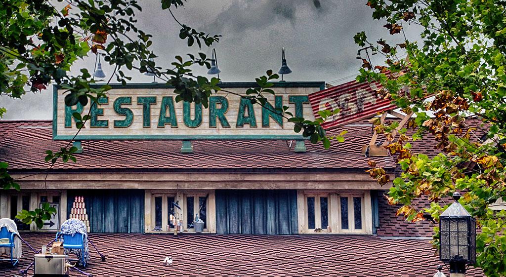 O restaurante chamado Restaurantosaurus, no parque Disney's Animal Kingdom