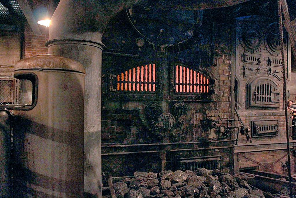 A fornalha da sala do Boiler (Boiler Room)
