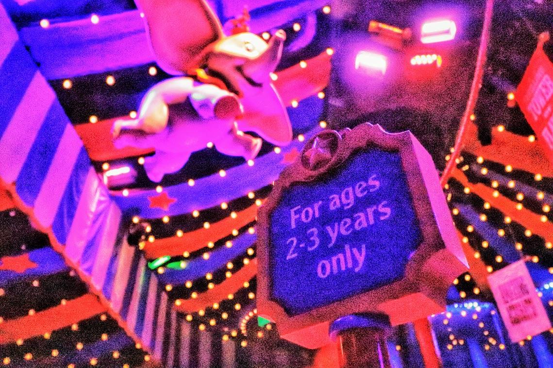 Play Area na espera da atração Dumbo, especial para crianças de 2 e 3 anos