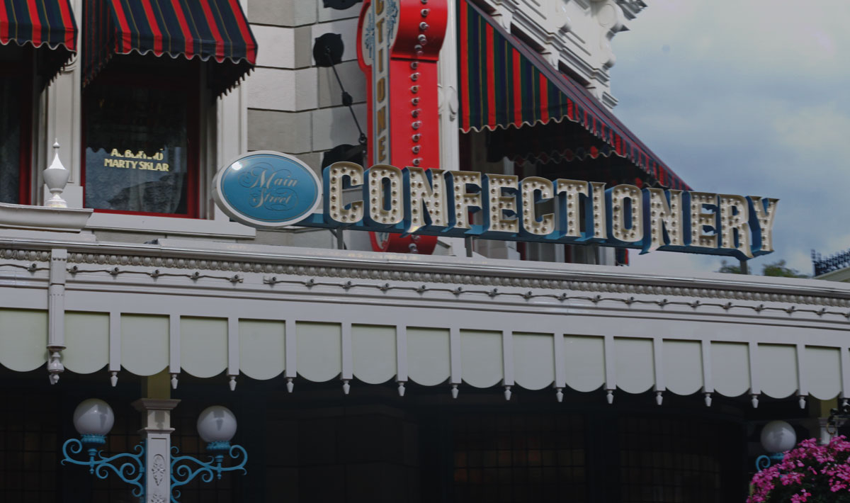 A Main Street Confectionary, no Magic Kingdom