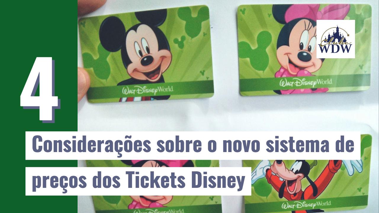 Considerações sobre o novo sistema de preços dos Tickets Disney