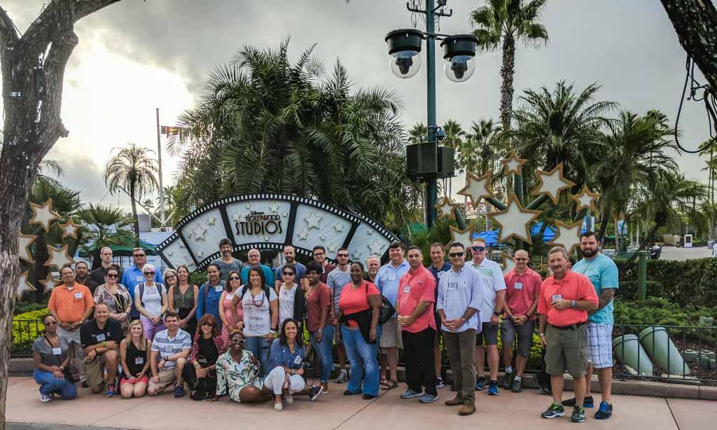 Turma que fez o curso de liderança junto com Paulo Andreoli no Disney Institute