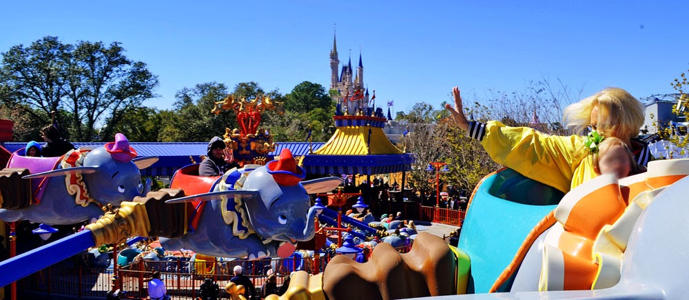 Dumbo, visão de dentro da atração