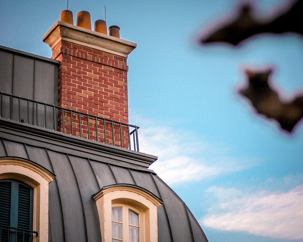 Detalhe de tematização no Pavilhão da França, no parque Epcot